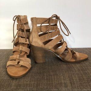 Crown Vintage tan   gladiator sandals , size 6 M